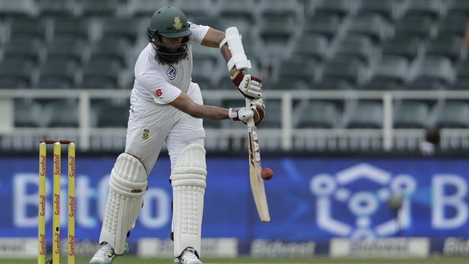 Hashim Amla scored a defiant 61 and took South Africa towards a decent total. (AP)