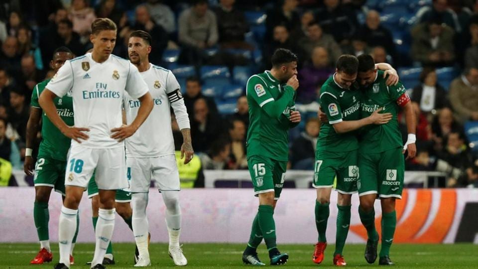Real Madrid's exit in the Copa del Rey continued their miserable season after they fell behind by 19 points in the La Liga against Barcelona.