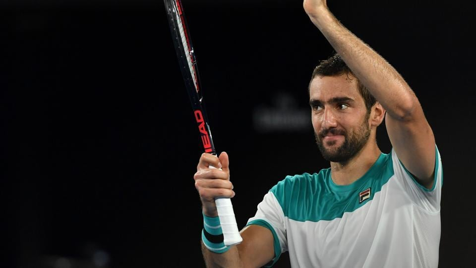 In men's singles, Marin Cilic got the better of Kyle Edmund in straight sets to reach the final.  (AFP)