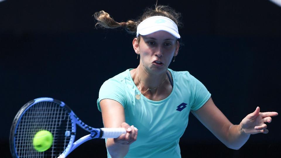 Elise Mertens lost to Caroline Wozniacki in the semis of the Australian Open tennis tournament.