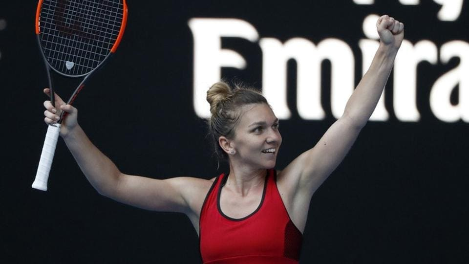 Simona Halep saved two match points to enter the final of the Australian Open Tennis tournament .