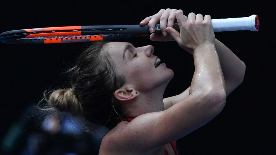 Simona Halep quelled a tenacious Angelique Kerber fightback and saved two match points to reach her first Australian Open final with a 6-3, 4-6, 9-7 victory in a compelling scrap on Rod Laver Arena on Thursday.