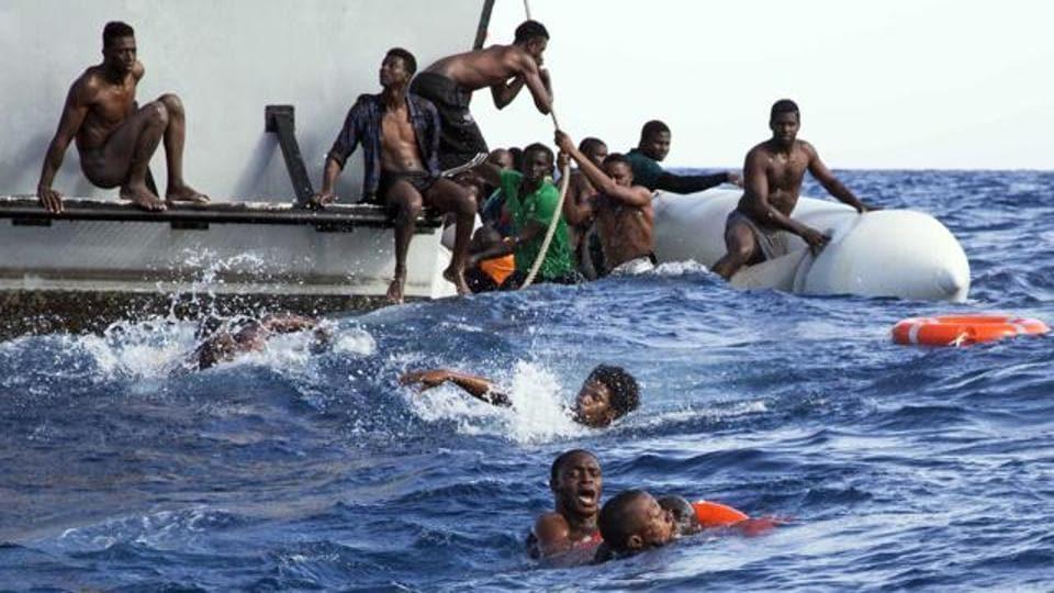 Africans drown,Yemen,Capsize