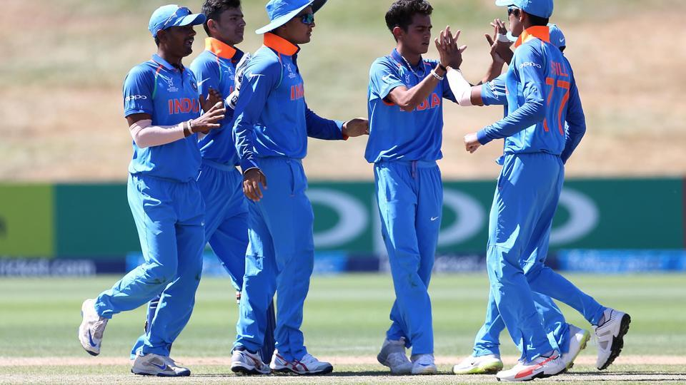 India defeated Bangladesh by 131 runs to reach the semi-final of the ICC U-19 Cricket World Cup.  (ICC)