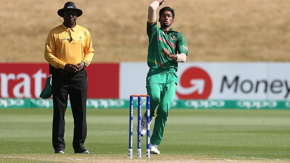 Robiul Haque removed Manjot Kalra early on to peg India peg. (ICC)