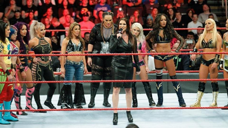 Stephanie McMahon announces the first-ever women's Royal Rumble. It was just the latest first for the women's division over the past two years.