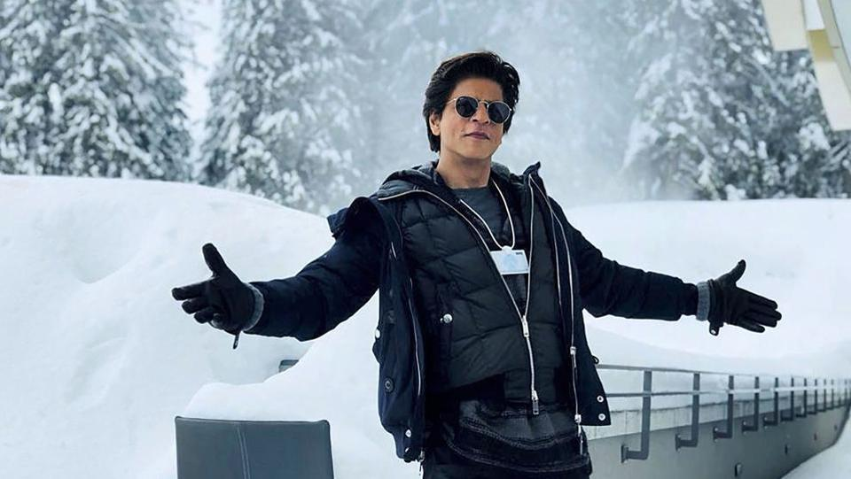 Bollywood actor Shah Rukh Khan poses for a photo at Davos in Switzerland where he received the World Economic Forum's Crystal Award on Monday. (PTI)