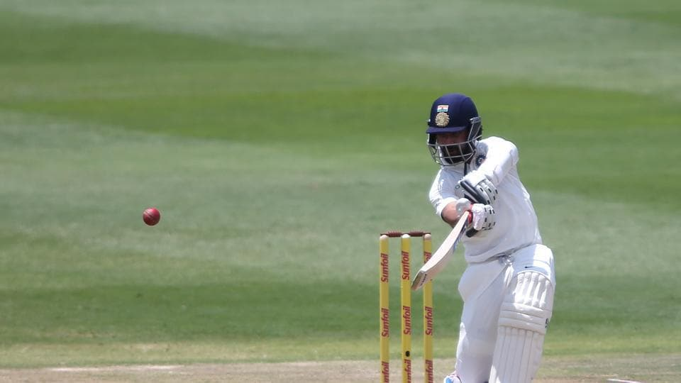 Ajinkya Rahane (48), not picked for the first two Tests of the series, played some sublime shots in difficult conditions.  (BCCI )
