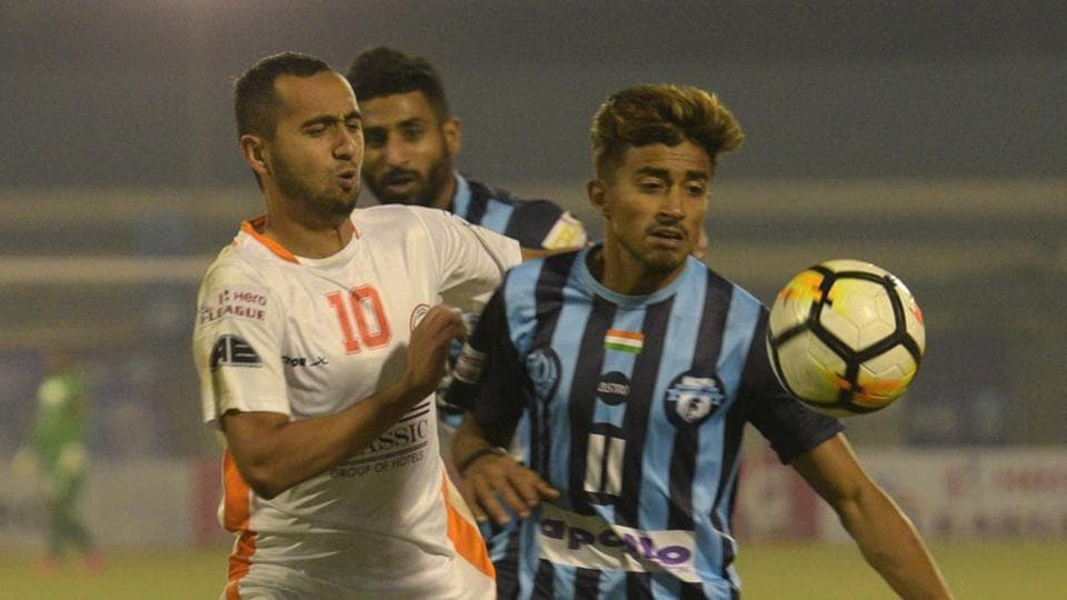 Neroca FC (in white) are currently at he second position in the I-League.
