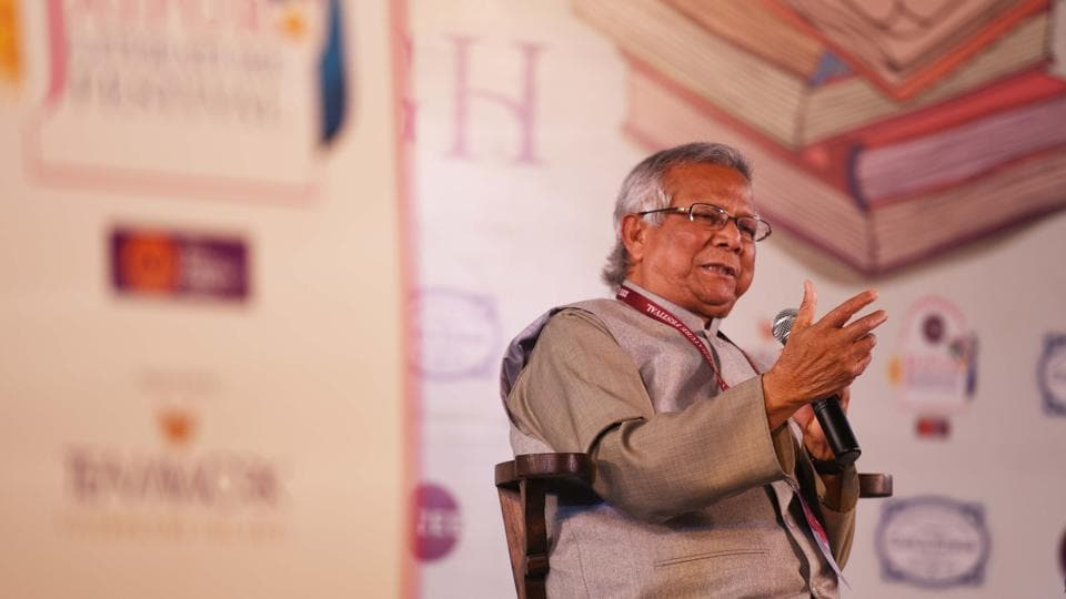 "Using bonsai as an explanation for micro credit, Nobel laureate Mohammad Yunus said during his session with Mihir Sharma at the Jaipur Literature Festival said, ""If you take the seed of the largest tree in the forest, and plant it in a small flower pot, it will not grow to be a big and mighty tree."""