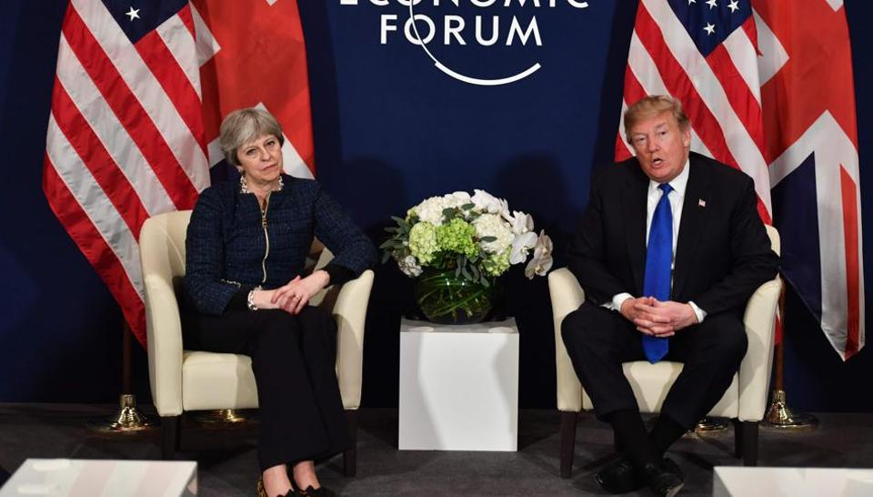 Donald Trump,Theresa May,Davos
