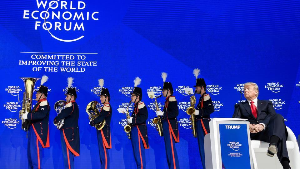 Image result for WEF puts on a show for Trump