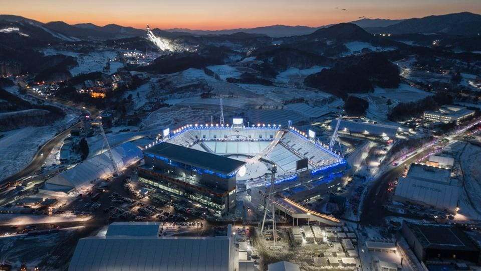 A general view of the venue for the opening and closing ceremonies of the 2018 Pyeongchang winter Olympics on January 23, 2018. (Ed Jones / AFP)