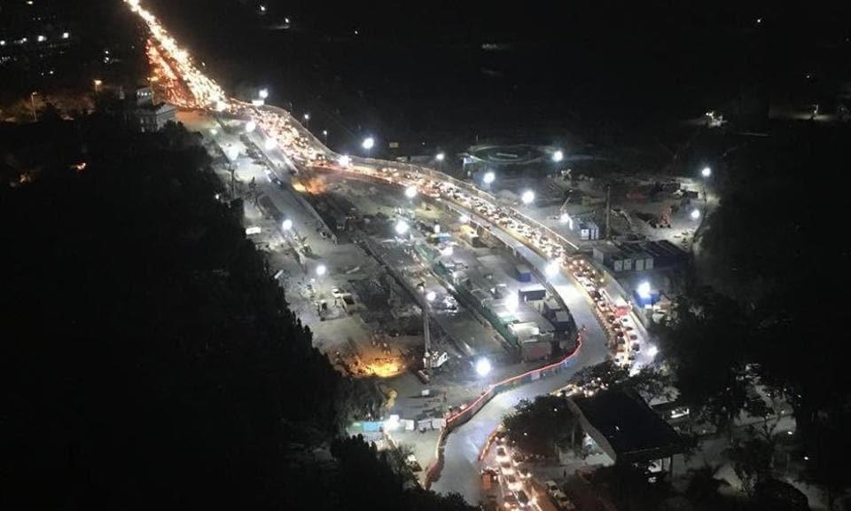 It is a 350-metre-long, two-lane bypass that runs from Rakhangi chowk to Worli Naka.