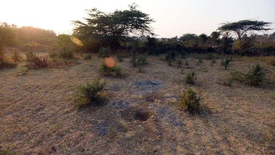A view of the Delhi government's land at Asola farms in Chattarpur on November 24, 2017.
