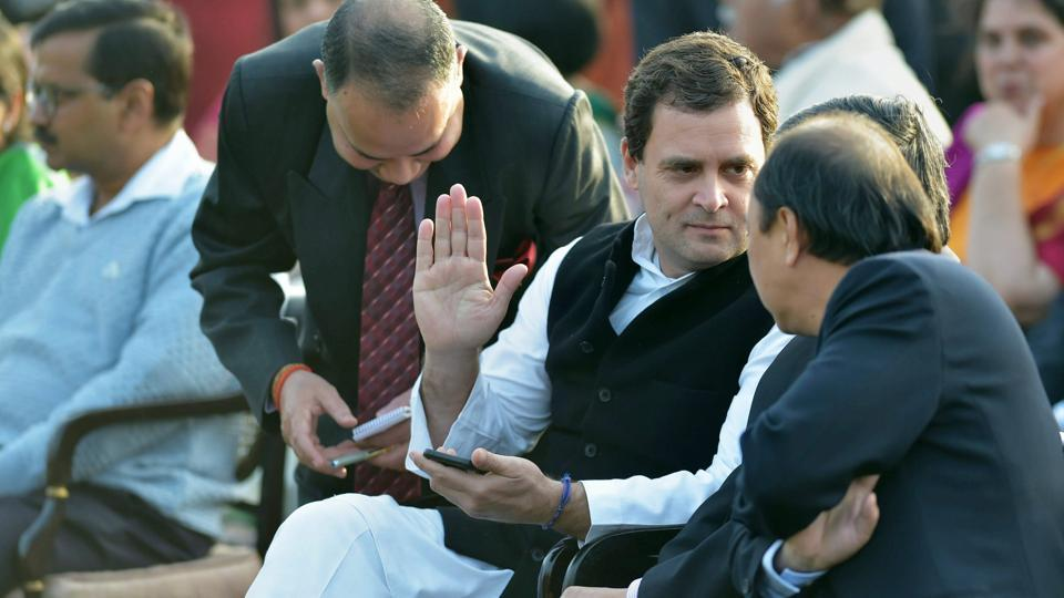 Rahul Gandhi,sixth row seat,Republic Day function