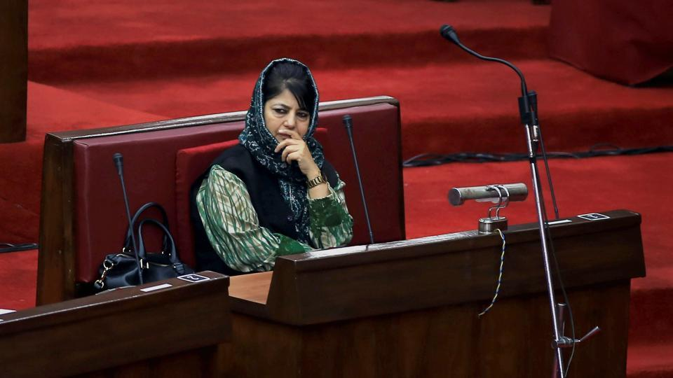Jammu and Kashmir chief minister Mehbooba Mufti during an assembly session, in Jammu.