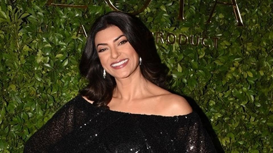 Sushmita Sen at the launch of a store in Mumbai.