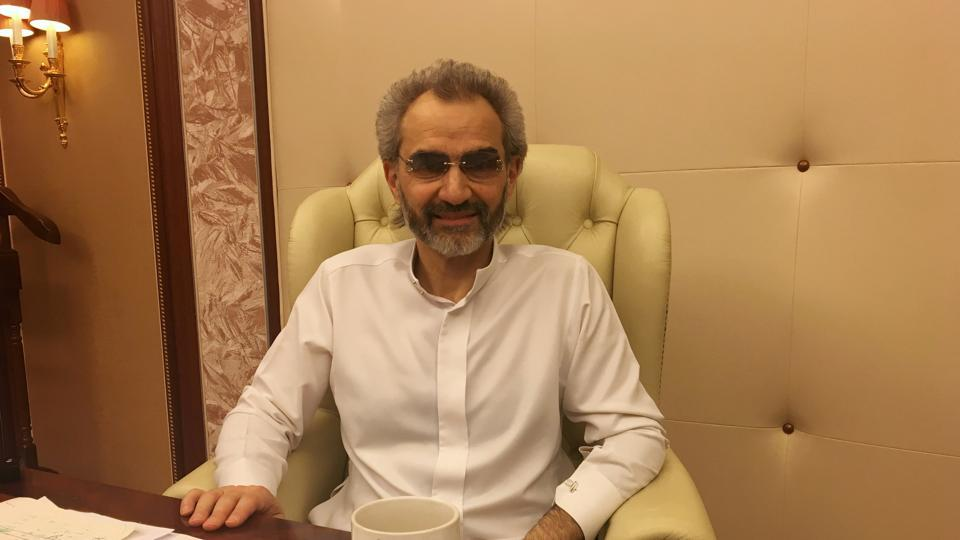 Saudi Arabian billionaire Prince Alwaleed bin Talal sits for an interview with Reuters in the office of the suite where he has been detained at the Ritz-Carlton in Riyadh, Saudi Arabia January 27, 2018.