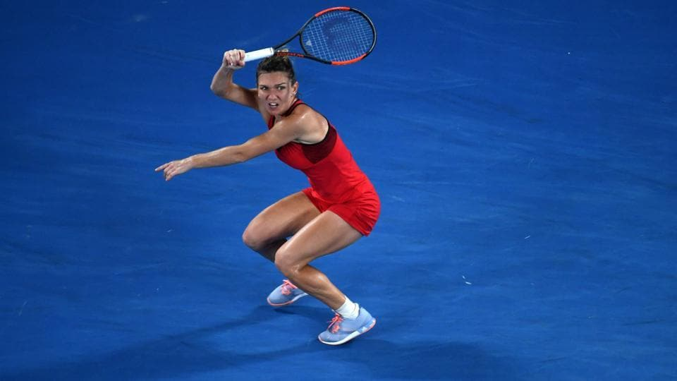 Simona Halep dominated proceedings in the match too, winning the second set and leading in the decider before losing to Caroline Wozniacki in the Australian Open final on Saturday.  (AFP)