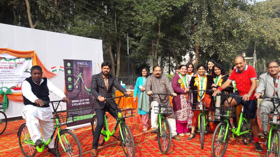 As many as 20 bicycles have been provided to residents and these are equipped with a host of features, including a locking system and GPS (Global Positioning System)