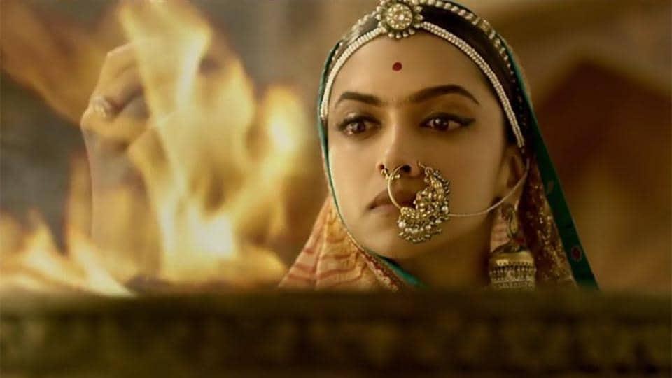 Deepika Padukone in a still from Padmaavat.