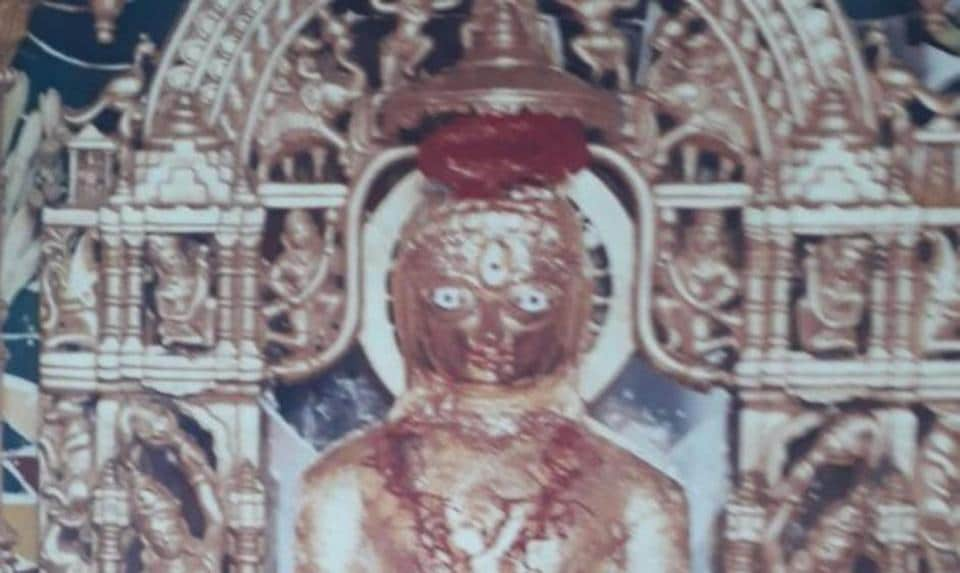 One of the two idols stolen from the housing society temple in Andheri.