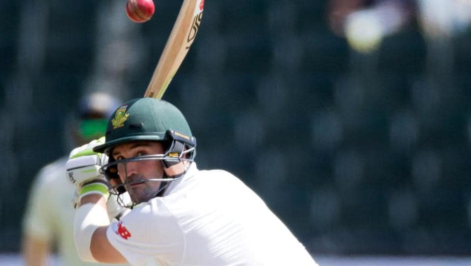 South Africa batsman Dean Elgar in action during the third Test against India at the Wanderers.
