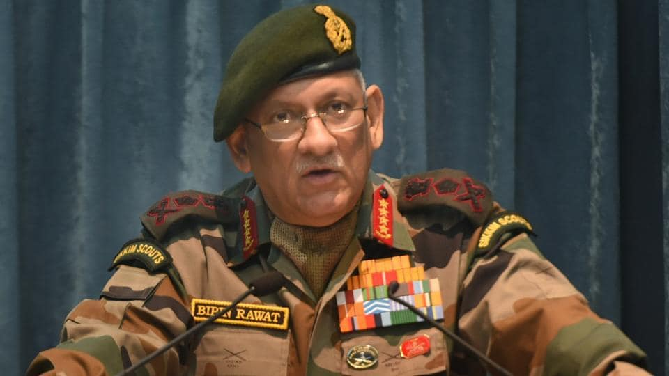 Army chief General Bipin Rawat addresses DRDO staff in New Delhi on January 12. Rawat also said the Army has rules of engagements for various operations at every level to ensure that no inconvenience is caused to the people while it is operating under AFSPA.