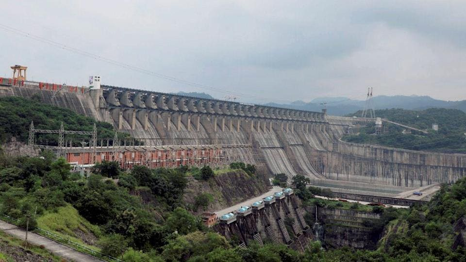 A view of the Sardar Sarovar Dam that was dedicated to the nation by Prime Minister Narendra Mod at Kevadiya in Narmada district on September 17, 2017.