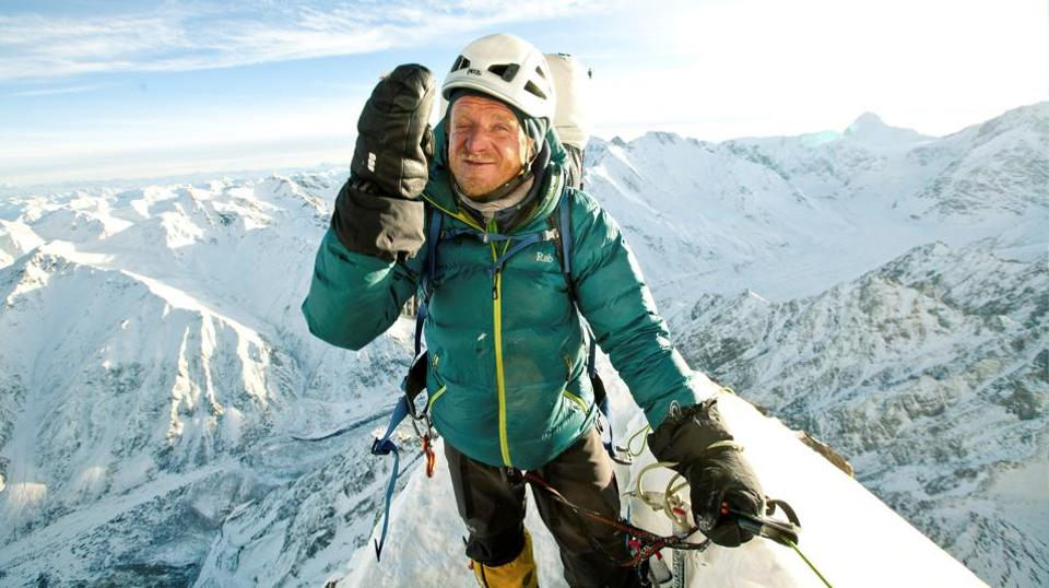 Polish climber Tomasz Mackiewicz during his trip on Nanga Parbat mountain in Pakistan January 2014.
