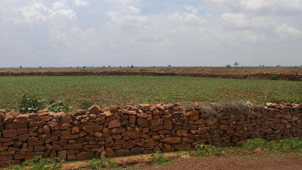 When the boundary wall construction was underway on that plot in 2012, Dukhlal Kanwar had raised an objection saying his land adjacent to it was captured in the process. Later, when the measurement of the plot was done by revenue inspector and patwari, it was found that besides 45 decimal belonging to Kanwar, the land of two other villagers was also illegally captured by MLA Agrawal.
