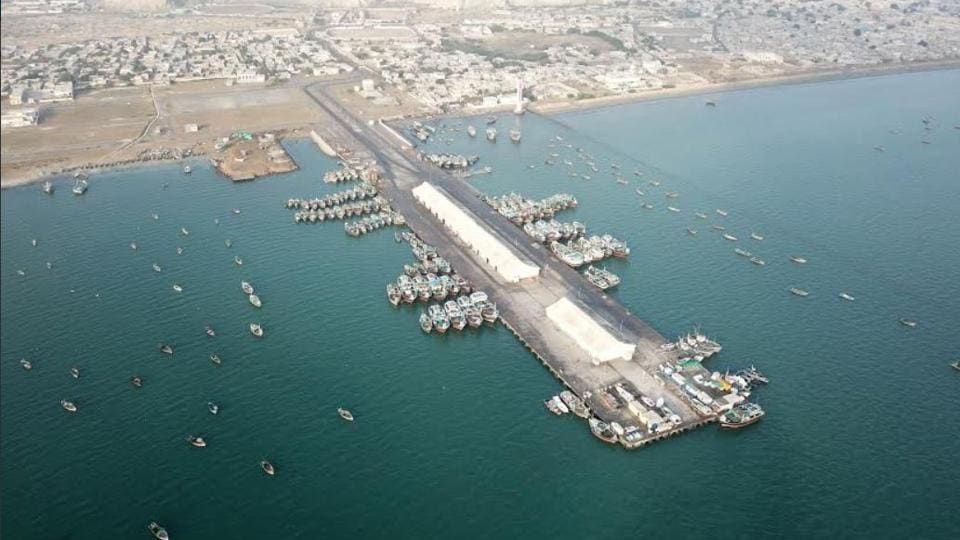 An aerial view of Gwadar port in Balochistan, a key part of the China-Pakistan Economic Corridor.