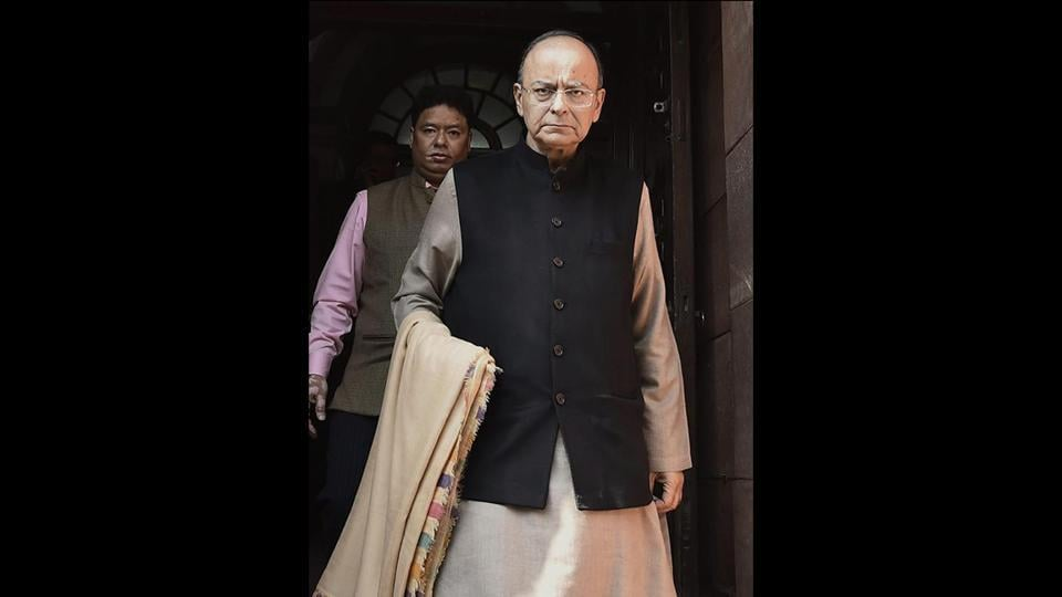 The Economic Survey of India was tabled later in the day by Finance Minister Arun Jaitley. India's economy should grow between 7% and 7.5% in the 2018-19 fiscal year, with exports and private investment set to rebound, Jaitley said. (Kamal Singh / PTI)