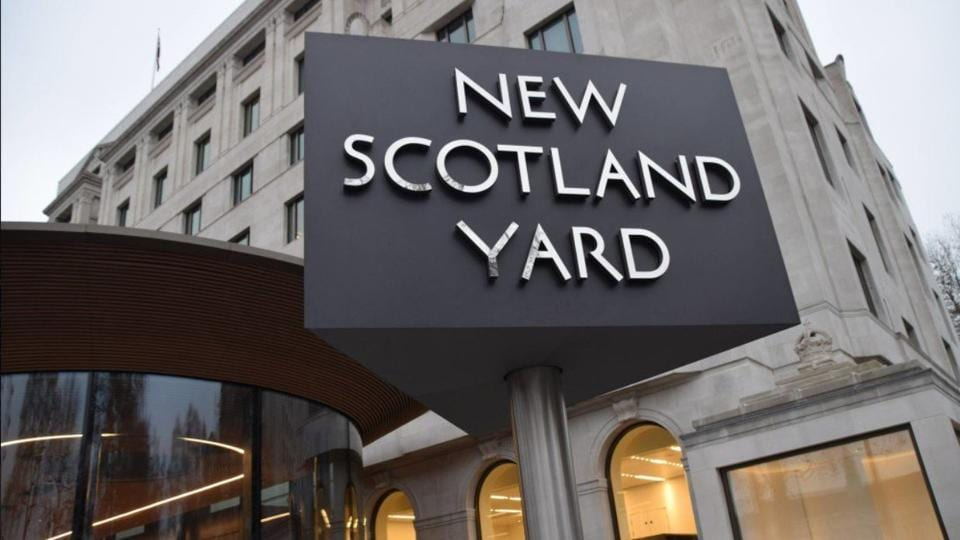 File photo of the New Scotland Yard office.