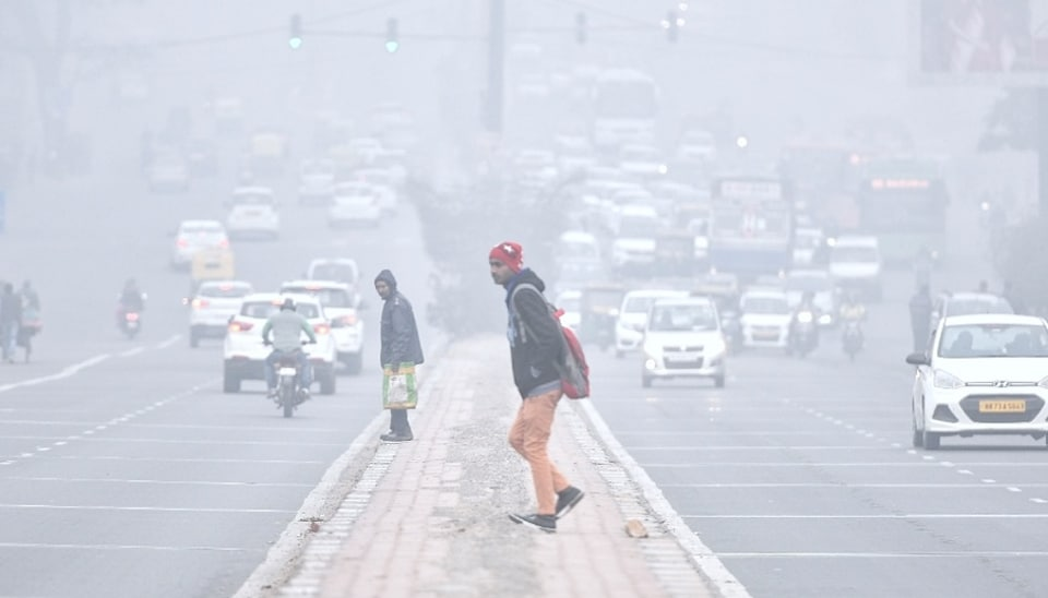 Delhi weather,Delhi fog,Delhi smog