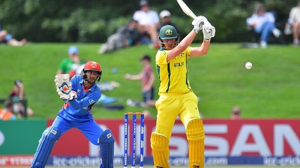 Australia defeated Afghanistan by six wickets in the ICC U-19 cricket World Cup semi-final. Get full cricket score of Australia vs Afghanistan, ICC U-19 cricket World Cup, here.