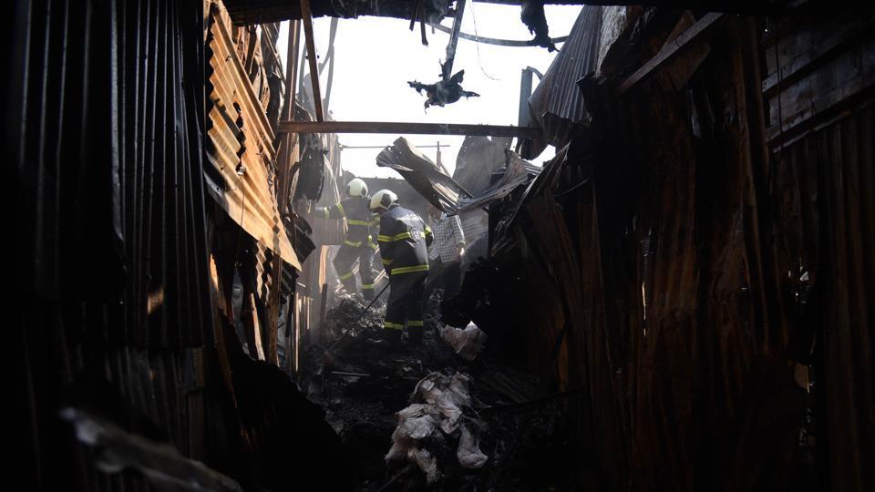 Mumbai fire,Goregaon fire,cooling operations