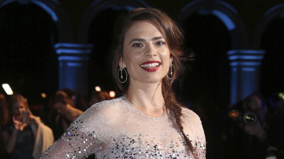 Actress Hayley Atwell says she will not work with Woody Allen today.