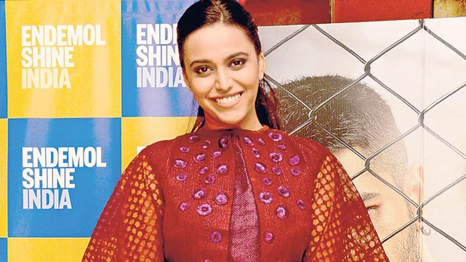 Swara Bhaskar spotted at a film screening in Mumbai.