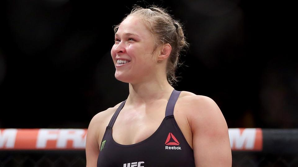 Ronda Rousey, a former UFCchampion, has shifted completely to showbiz wrestling, joining the WWE after making a small appearance a the Royal Rumble Sunday night.