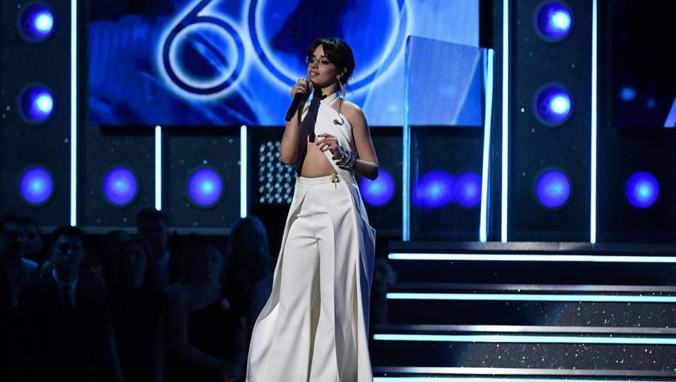 Camila Cabello performs during the 60th Annual Grammy Awards show. Cabello's performance was among the night's polically charged moments  with her plea in favor of Dreamers amid the ongoing Deferred Action for Childhood Arrivals (DACA) repeal debate. (Timothy A. Clary / AFP)