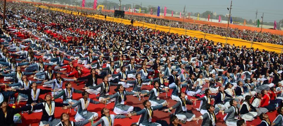 15,000 girl students from around 2500 Vidya Bharti schools, Sanskar Kendras and Ekal Vidyalayas from 49 districts of eastern UP attended the Samutkarsha Balika Shivir in Allahabad on Sunday.