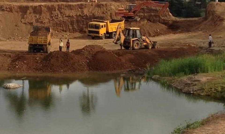 The complainants alleged that the water body, is an important source of drinking water for the wildlife, has shrunk by 60% in the past few months.