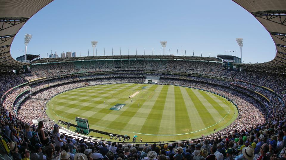 A general view as 88,172 cricket fans enjoy day one of the fourth Test in the 2017-18 Ashes series between Australia and England at Melbourne Cricket Ground on December 26, 2017. MCG will host both women's and men's finals of the ICC World T20 2020.