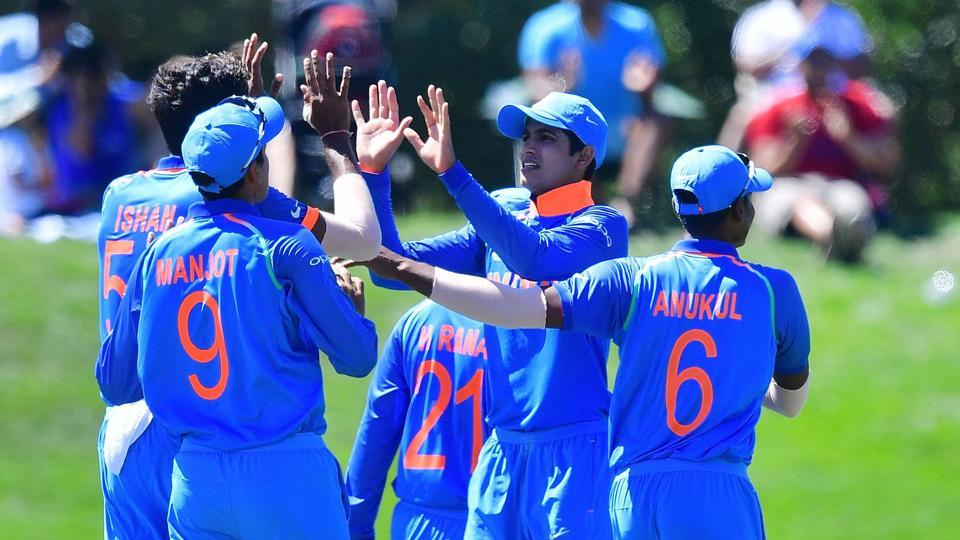 India thrashed Pakistan by 203 runs at the Hagley Oval in Christchurch to reach the ICC Under-19 Cricket World Cup final, where they will face Australia. (AFP)