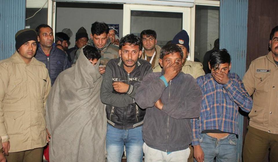 The accused who were nabbed by the Dehradun police in Dehradun.