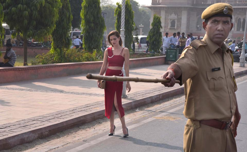 A Hollywood star shoots at Albert Hall in Jaipur.