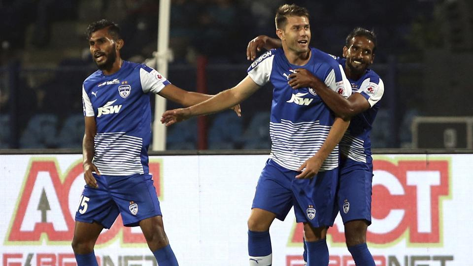 Bengaluru FC beat Transport United 3-0 at Bangalore to enter the second round of the AFC Cup today.
