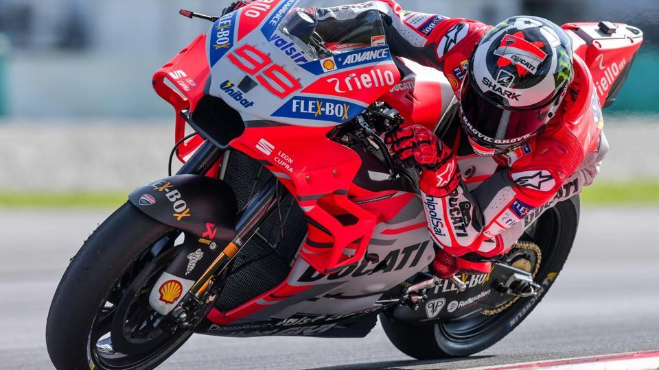 Ducati Team's Jorge Lorenzo during his hot lap on the last day of the 2018 MotoGP pre-season test at the Sepang International Circuit on Tuesday.